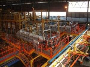 Vista dall'alto impianto vetreria